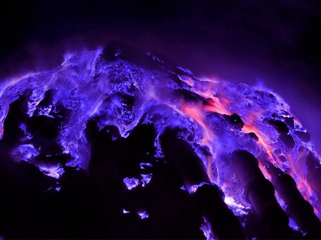Ijen Blue Fire - Blue Fire Ijen Volcano Java Indonesia