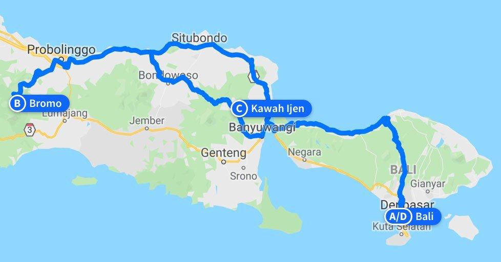 probolinggo bromo ijen tour - Probolinggo Bromo Ijen Bali Tour Package